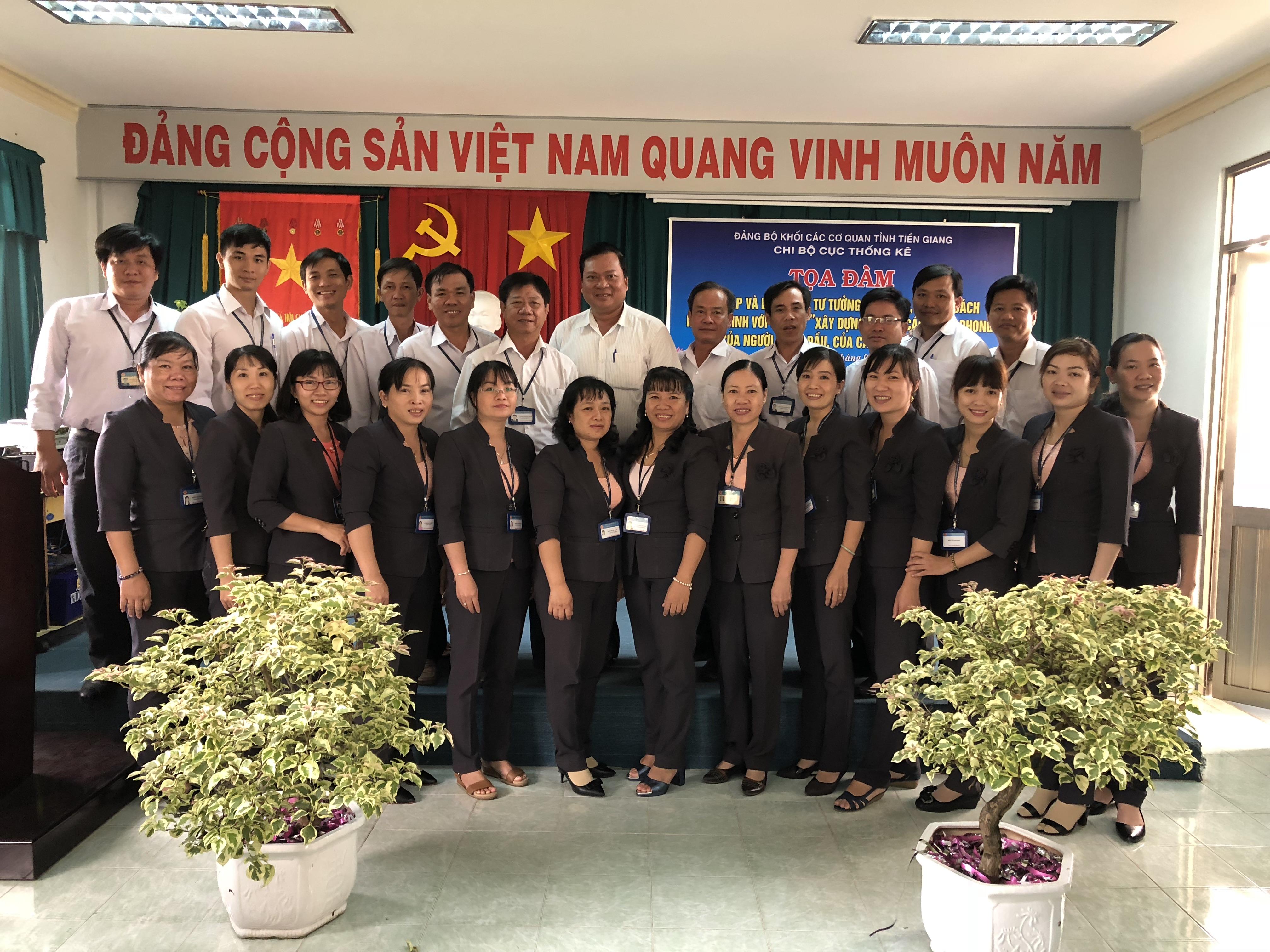 Cục Thống kê Tiền Giang sinh hoạt tọa đàm về học tập và làm theo tấm gương đạo đức Hồ Chí Minh năm 2018