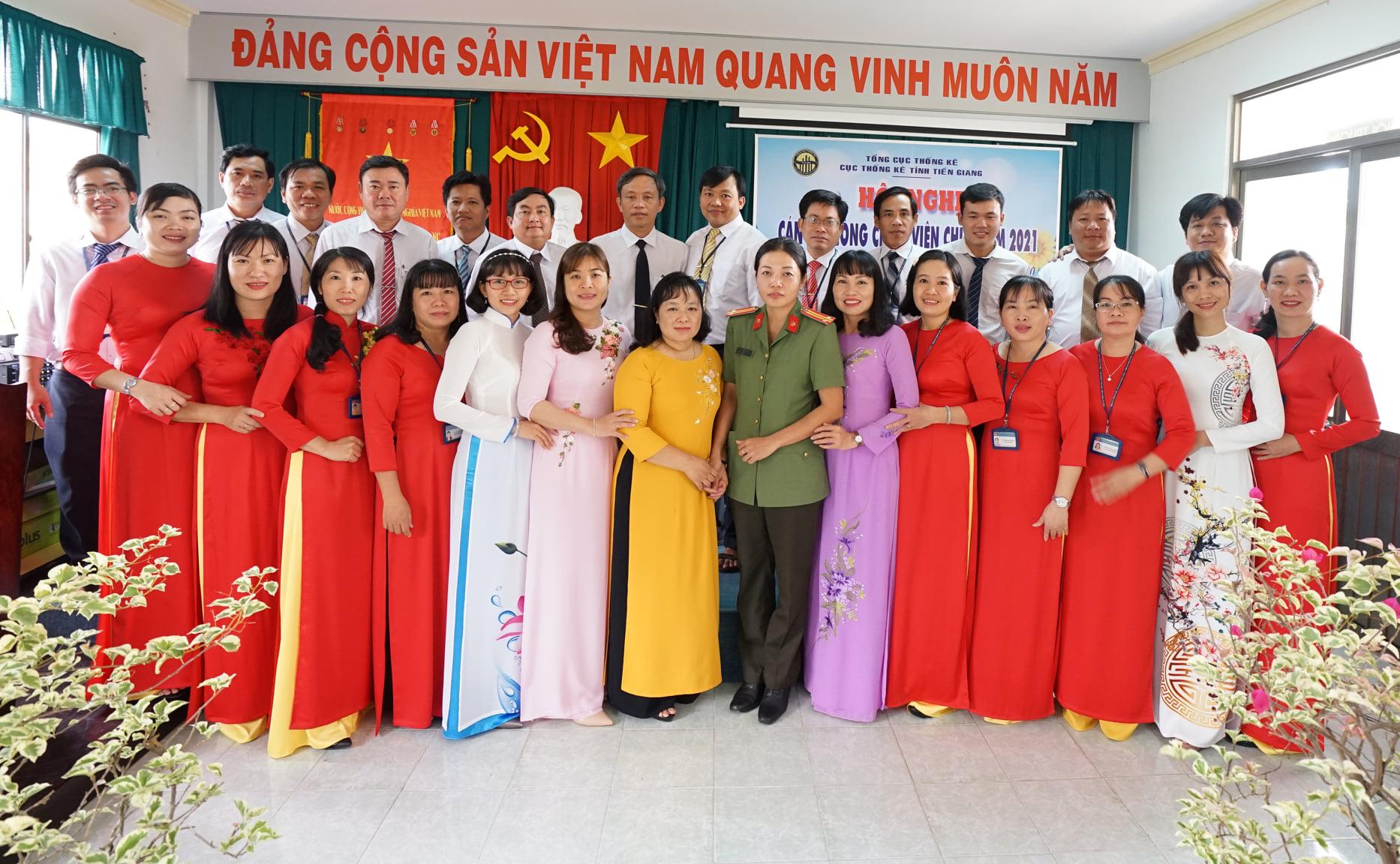 Hội nghị cán bộ, công chức, viên chức Cục Thống kê tỉnh Tiền Giang năm 2021