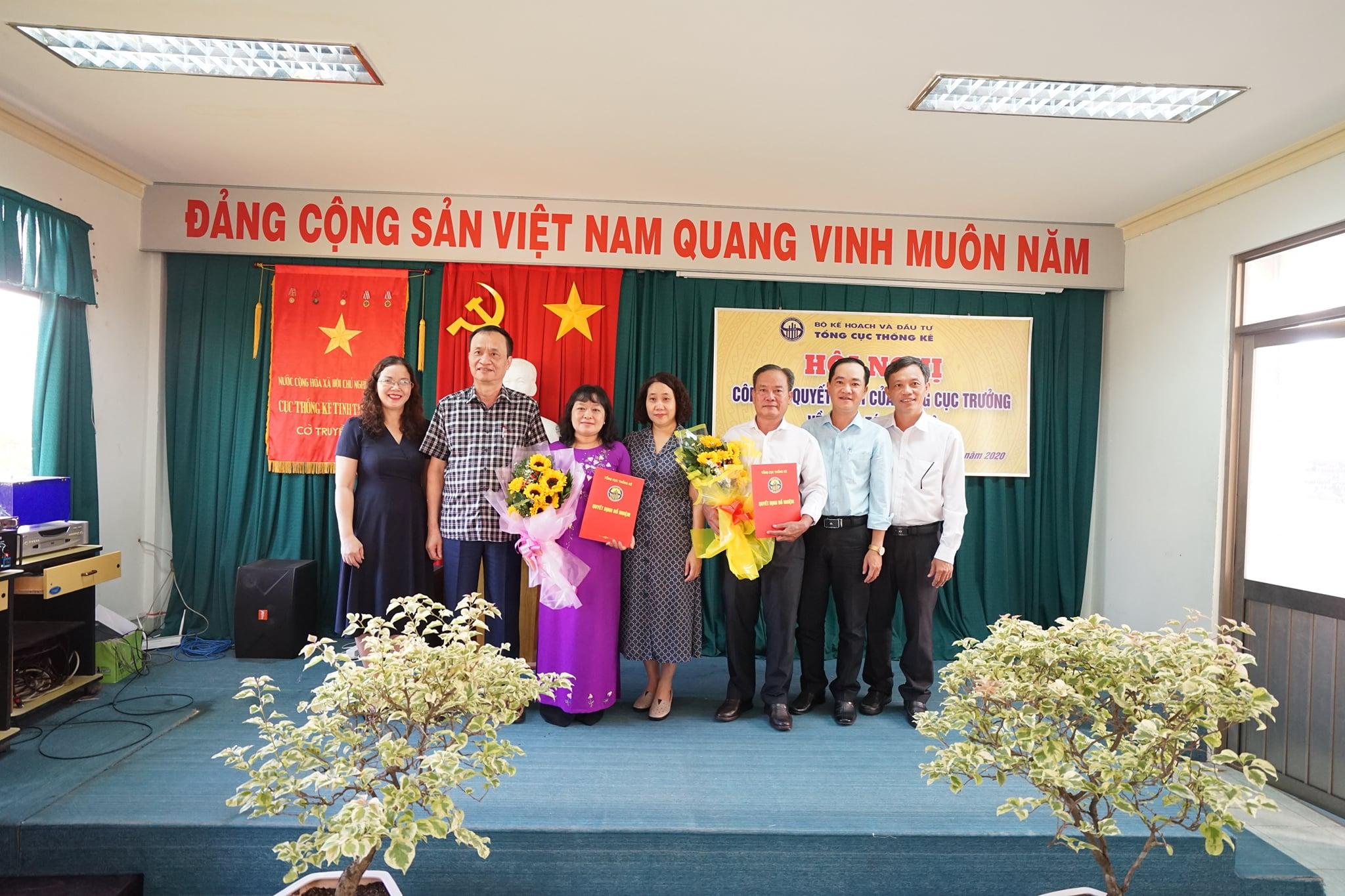 Lễ công bố và trao Quyết định bổ nhiệm Lãnh đạo cục Thống kê tỉnh Tiền Giang