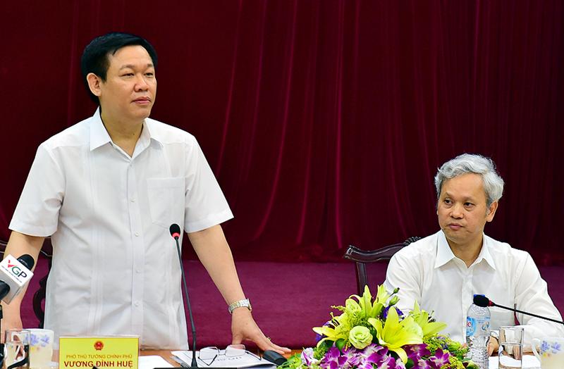 Phó Thủ tướng Chính phủ Vương Đình Huệ làm việc với Tổng cục Thống kê về triển khai thực hiện nhiệm vụ giai đoạn 2016 - 2020