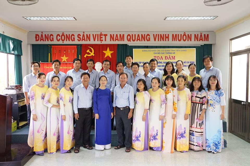Cục Thống kê Tiền Giang sinh hoạt tọa đàm về học tập và làm theo tấm gương đạo đức Hồ Chí Minh năm 2017