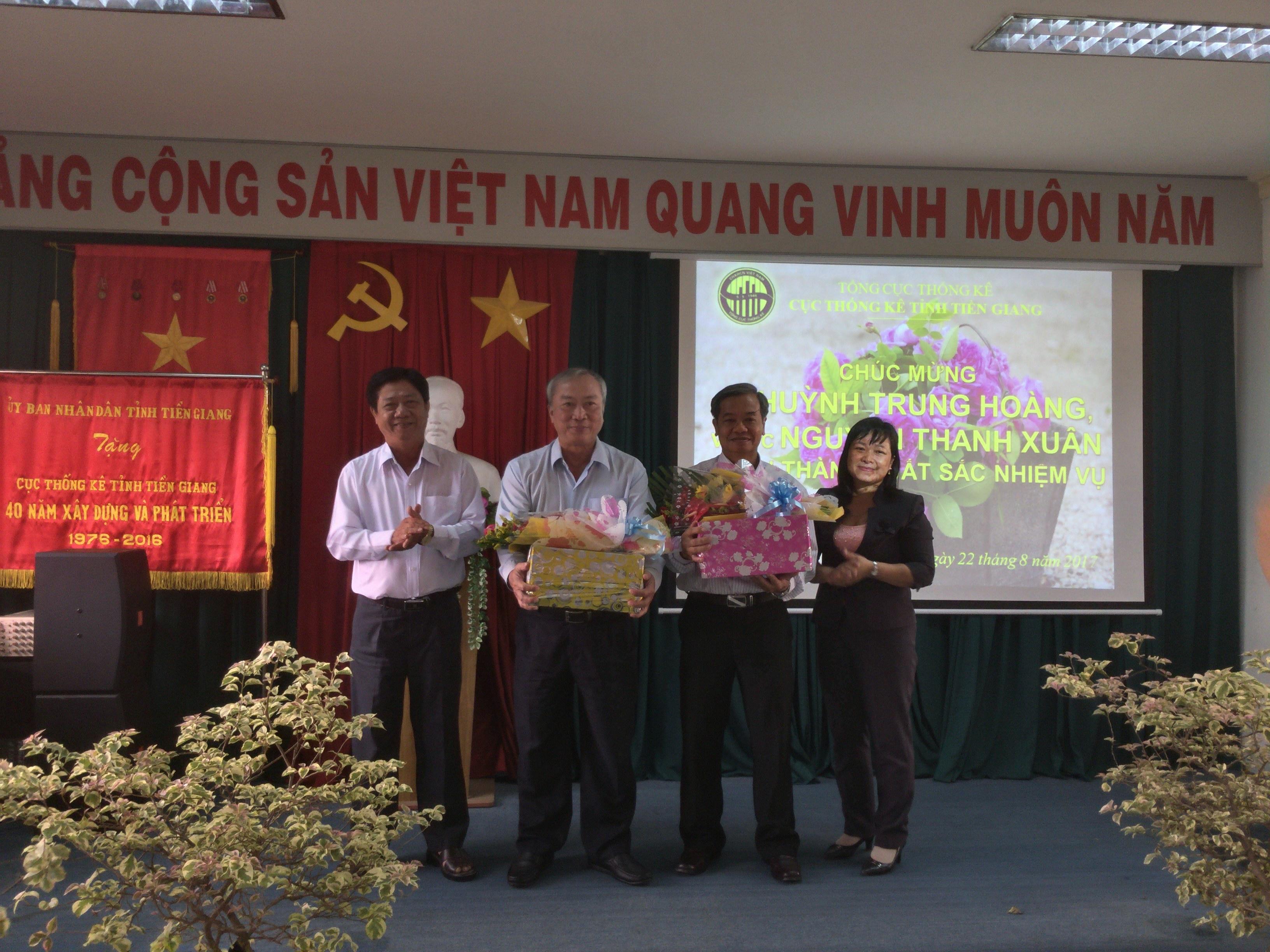 Họp mặt chúc mừng đồng chí Huỳnh Trung Hoàng và Nguyễn Thanh Xuân về nghỉ hưu theo chế độ từ ngày 01/9/2017